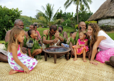 Kava with visitors
